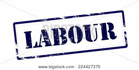 Rubber stamp with word labour inside, vector illustration