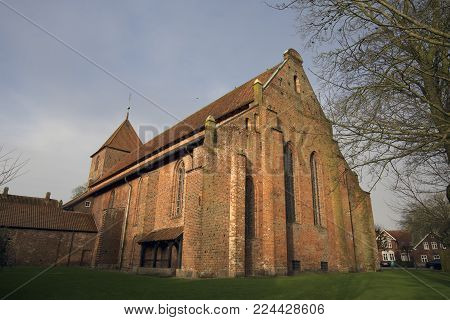 St. Catherine's Priory outside and from below, Ribe, Denmark