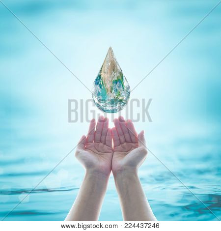 World Environmental Protection And Saving Water Conceptual Idea. Element Of This Image Furnished By