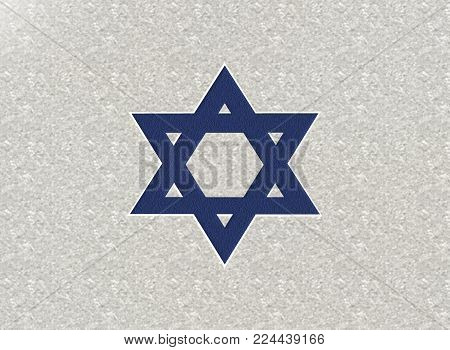 Star of David 3D Jewish background the sign of religion