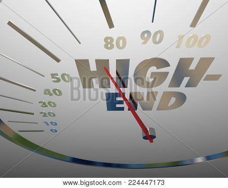 High End Speedometer Top Quality 3d Illustration