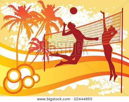 beach volley background