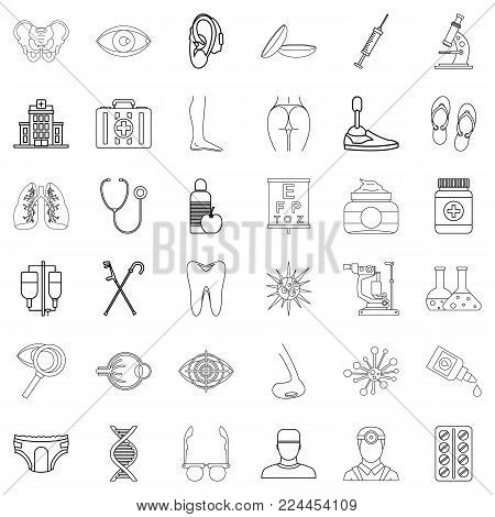 Prosperity icons set. Outline set of 36 prosperity vector icons for web isolated on white background