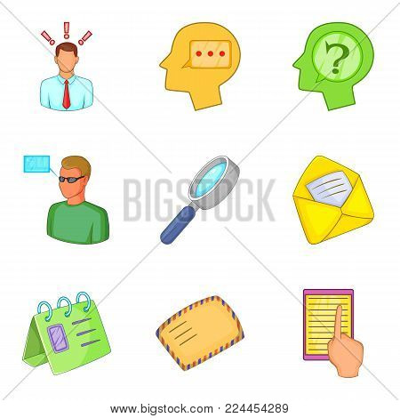 Labor agreement icons set. Cartoon set of 9 labor agreement vector icons for web isolated on white background