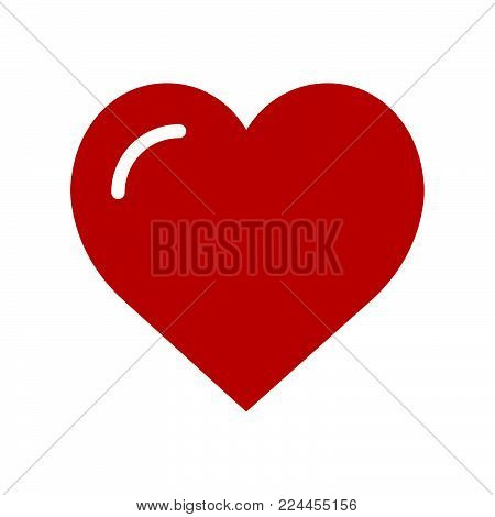 Heart icon isolated on white background. Heart icon modern symbol for graphic and web design. Heart icon simple sign for logo, web, app, UI. Heart icon flat vector illustration, EPS10.