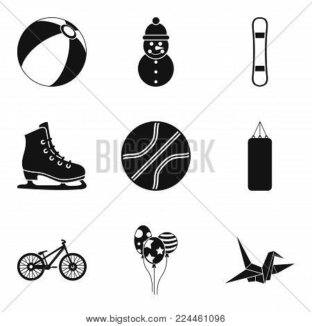 Stripling sport icons set. Simple set of 9 stripling sport vector icons for web isolated on white background