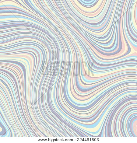 Abstract vector background. Curved psychedelic irregular lines. Pattern based on fractal image.