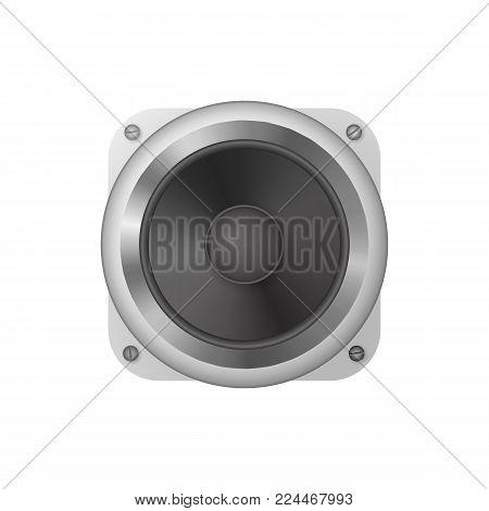 Audio speakers. Loudspeaker vector illustration. Icon audio system. Dopolnitelnoe equipment to the computer.