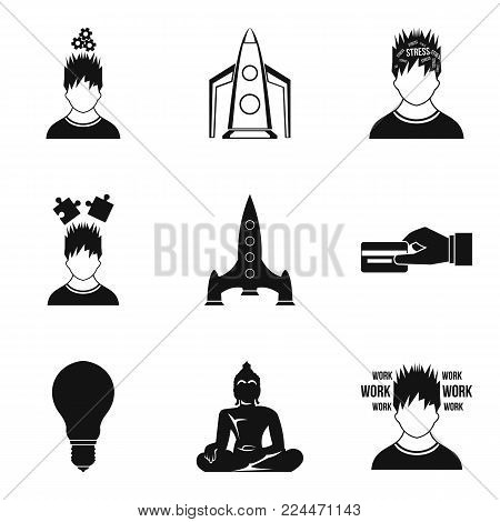 Leadership role icons set. Simple set of 9 leadership role vector icons for web isolated on white background