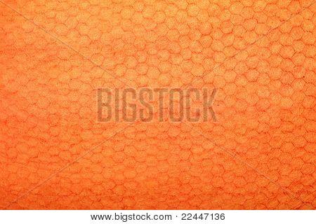 orange handmade art paper with honeycomb texture