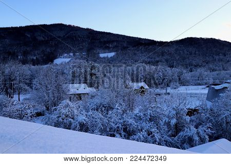 View on czech mountain named by Prasiva