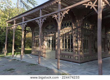Abdulaziz Hunting Lodge, front right side view  - Istanbul - Turkey
