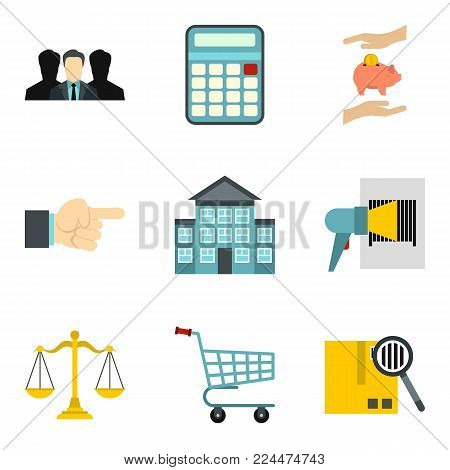 Provision icons set. Cartoon set of 9 provision vector icons for web isolated on white background poster