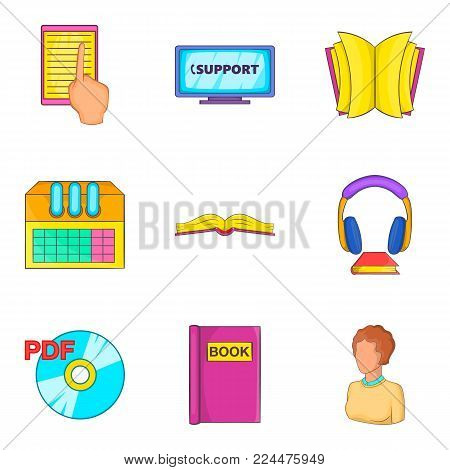 Archive icons set. Cartoon set of 9 archive vector icons for web isolated on white background