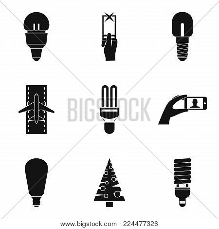 Shine icons set. Simple set of 9 shine vector icons for web isolated on white background