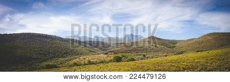 Beautiful Landscape Image From The Little Karoo Region Close To Uniondale In The Garden Route Of Sou