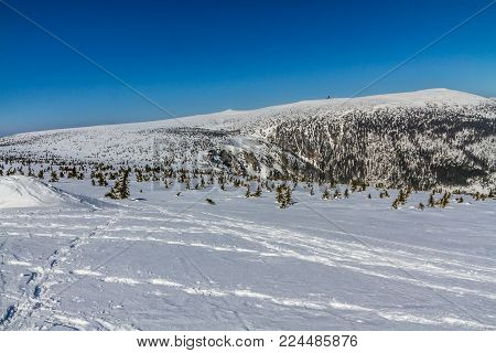 Panorama of Snow Holes With Labska Bouda And Wawel Transmitter - Krkonose (Giant Mountains), Czech Republic, Europe