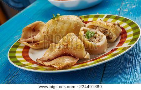 Stuffed Calamari With Tuna