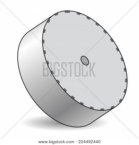 Outlined vector satellite dish, isometric perspective, isolated background. Transmission aerial, telephone, television signals. Satellite TV receiver. Communication antenna sign, wireless technology.