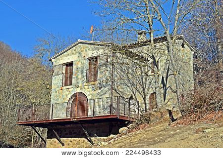 Shelters in the nature El Montseny Barcelona