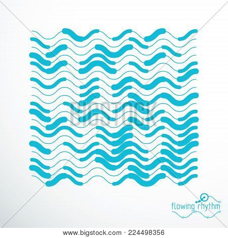 Technological Vector Backdrop Made With Abstract Lines. Modern Geometric Composition Can Be Used As
