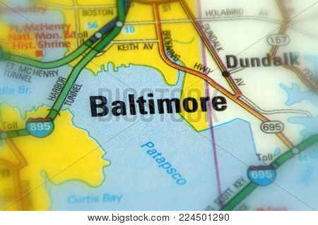 Baltimore, the largest city in the U.S. state of Maryland.