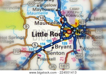 Little Rock, the capital city of the U.S. state of Arkansas.