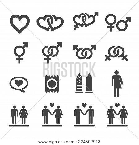 sex and sexual icon set vector illustration