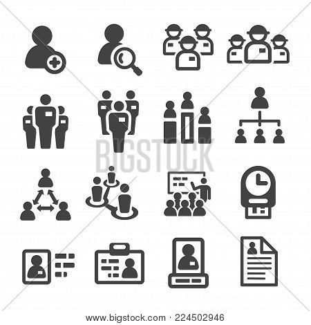 staff and employee icon set vector illustration