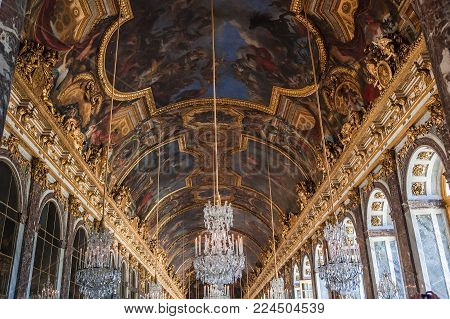 Hall Of Mirrors Of Château De Versailles, France