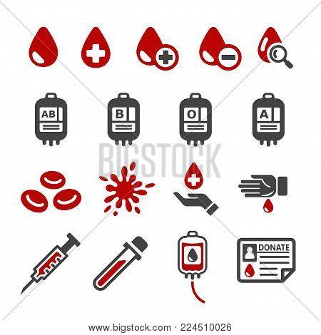 blood icon set medical icon vector illustration