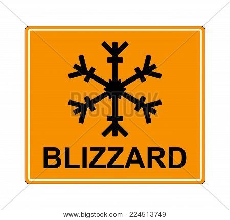 Winter warning set sign shows danger of ice and snow at street, highway or road. Snow warning sign (Risk of Ice warning sign) isolated on a white background. vector illustration.