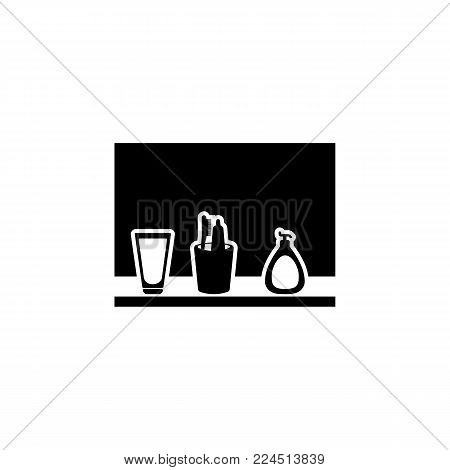 bath set icon. Bathroom and sauna element icon. Premium quality graphic design. Signs, outline symbols collection icon for websites, web design, mobile app, info graphics on white background