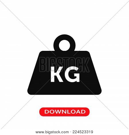 Weight tool icon vector in modern flat style for web, graphic and mobile design. Weight tool icon vector isolated on white background. Weight tool icon vector illustration, editable stroke and EPS10. Weight tool icon vector simple symbol for app, logo, UI