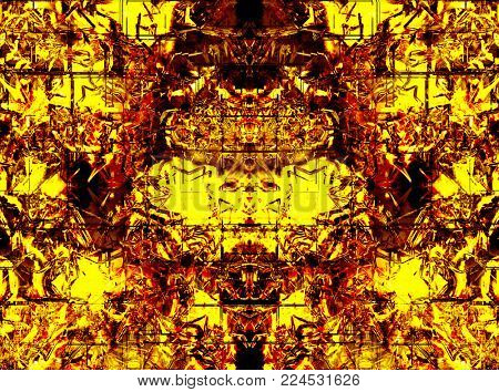 abstract background of gold metal squares