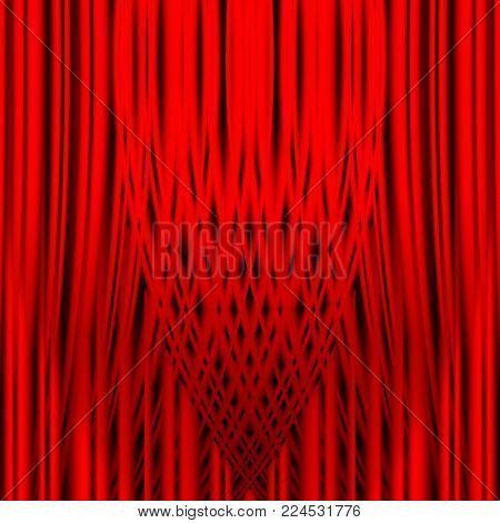 red theater curtain with irregular relief