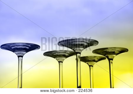 Upside-down Martini Glasses
