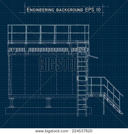 Blueprint engineering vector photo free trial bigstock blueprint engineering background building floor plan axonometric view vector eps10 malvernweather Gallery