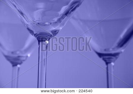 Martini Glasses Close-up