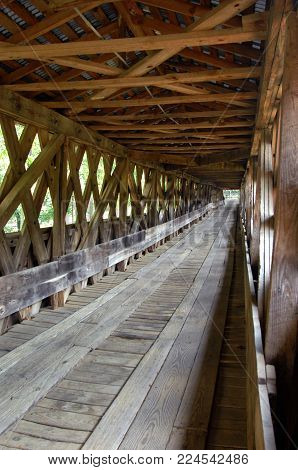 Interior Of Clarkson Covered Bridge