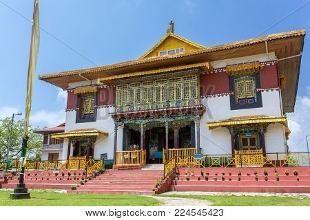 The Pemayangtsi Monastery near Pelling in the state of Sikkim, India.