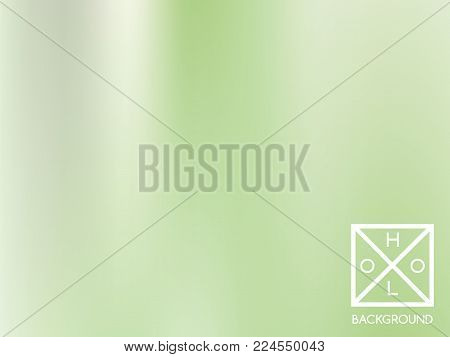 Green mesh gradient.  Blurred sparkly cover. Abstract soft pastel color backdrop.  Trendy creative vector foliage gradient. Mesh gradient foil.  Creative bokeh template for banner. Vibrant green print