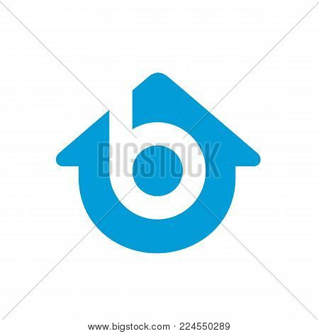 Letter B Home Logo. Sweet Home Logo Template is mostly suited for anything related real estate business, home improvement, studio, team, etc.  Made from 100% vector shapes you can resize without losing quality.