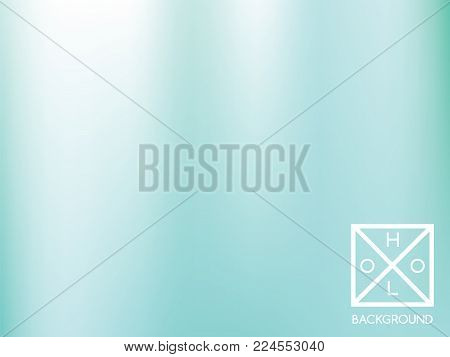 Blue background. Iridescent cover.  Abstract soft pastel colors backdrop.  Trendy creative vector cosmic gradient. Mesh blue foil.  Creative neon template for banner. Iridescent print.