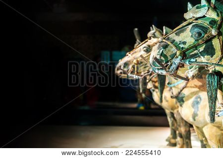 Qin Shi Huang Tomb Unearthed Bronze Chariot