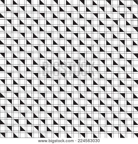 Vector silhouette ethnic pattern. Simple monochrome geometric background. Square pattern. Decor pattern. Fabric pattern. Textile pattern. Arrow pattern. Digital pattern. Vector illustration EPS.8 EPS.10