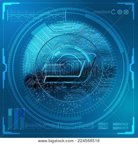 Cryptocurrency Dash Futuristic