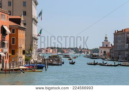 View Of Grand Canal From Accademia Bridge In Venice, Italy