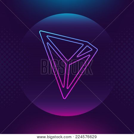 TRON TRX Vector Vector & Photo (Free Trial) | Bigstock