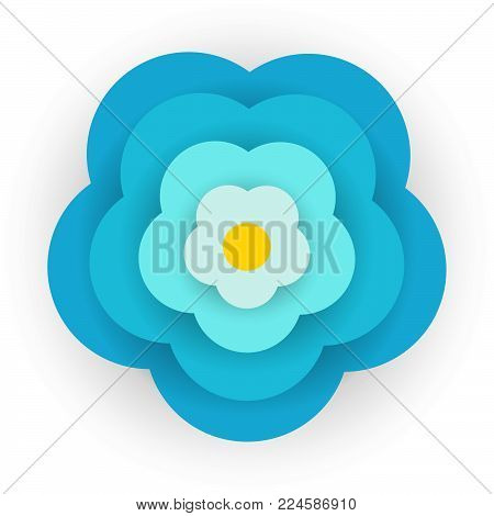 Abstract forget me not flower design. Vector illustration.